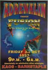 Adrenalin Vs Fusion @ Kaos Club, Barnstaple, 03/10/97 Rave Flyers