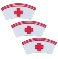 Nurse Cap Applique Patch (3-Pack, Small, Iron on)