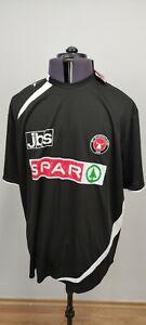 Puma Midtjylland Denmark Mens Football Shirt Home Kit Black Short Sleeve XXL