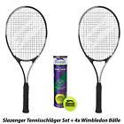 Slazenger Racchetta da tennis Set + WIMBLEDON PALLINE + BALLS L1 L2 L3 L4
