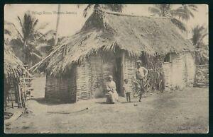 Mayfairstamps Jamaica Western Village Scene Antique Postcard wwp73027