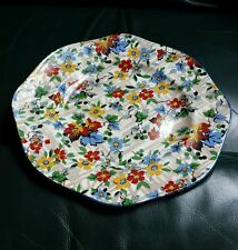 "James Kent Fenton Ltd Floral 9"" Plate Stoke On Trent Unknown Pattern Circa 1950"