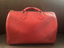 Authentic LV Louis Vuitton Speedy Epi Red