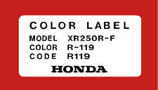 HONDA XR250R COLOR CODE FRAME DECAL  / REPRO DECAL