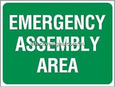 Emergency Assembly Area Sign Safety Signs Australian Made Quality Printed Sign