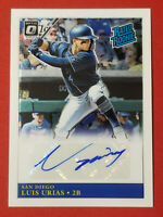 2019 Donruss Optic Luis Urias Rated Rookie AUTO Padres Mil Brewers FREE SHIPPING