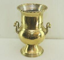 Groß! Messing Blumen Übertopf Sekt/Wein Kühler Pokal Brass Cachepot Wine Cooler