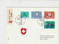 switzerland helvetia europa 1965 stamps cover ref 20230