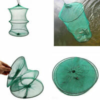 2 Layer Crab Fish Shrimp Minnow Fishing Bait Trap Cast Dip Net Cage-Folda N F5X3