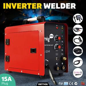 Inverter Welder Machine 220 Amp MMA MIG DC Gas Gasless Welding Machine Portable