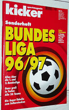 KICKER FUSSBALL BUNDESLIGA 1996-1997 SONDERHEFT GUIDE BAYERN VFB BAYER FOOTBALL