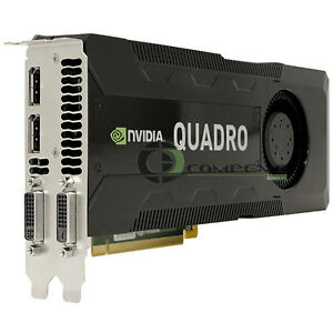 NVIDIA Quadro K5000 4GB GDDR5 PCIe 2.0 x16 Dual DP DVI GPU IBM 03T8311