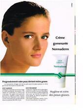 PUBLICITE ADVERTISING  1985  NORMADERM  cosmétiques