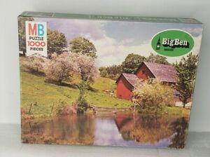 Vintage Milton Bradley Big Ben Series #4962 Puzzle  #1 peaceful interlude, 1978
