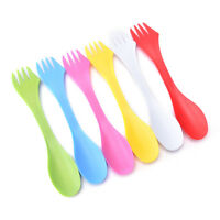 6pcs multi Camping Hiking Utensils Spork Combo Travel Gadget Spoon ForRKUS