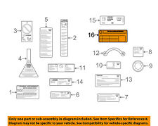 AUDI OEM 09-16 Q5 Labels-Tire Pressure Info Label 8R0010502BH