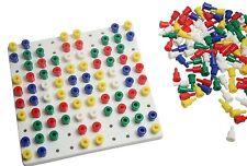 Small White Peg Board  - preschool toddler childrens Learning  OT