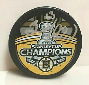 Brad Marchand Boston Bruins signed Stanley Cup Puck