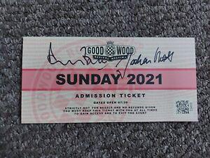 2021 Goodwood Revival Signed Ticket, formula 1, f1 *COA*