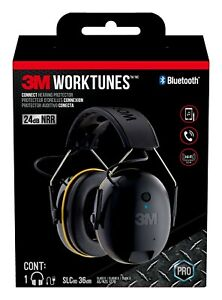 3M WorkTunes Connect Hearing Protection Headphones Noise Cancellation Bluetooth