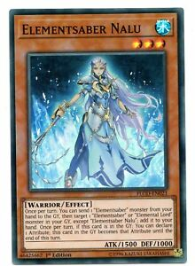 YU-GI-OH CARD: Elementsaber Nalu - FLOD-EN021 - Super Rare 1st Edition