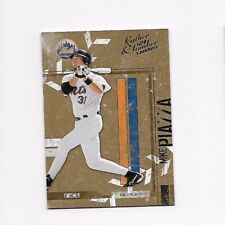 2004 DONRUSS LEATHER & LUMBER ----- MIKE PIAZZA #92