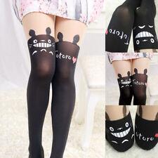 1pc Japanese Totoro Print Opaque Sheer Slim Cute Gift Socks Pantyhose Stocking