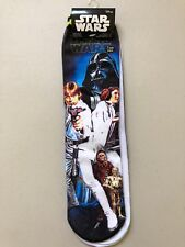 Disney Star Wars Characters 2 pairs pack socks Adult Shoe Size 4 -10 NEW