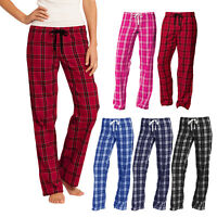 Women Plus Flannel Plaid Checkered Pajamas PJ Sleep Lounge Pants 100% Cotton
