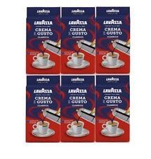 6 PZ CAFFE' LAVAZZA N.7 CREMA E GUSTO MACINATO 250 GR ESPRESSO CLASSICO PER MOKA