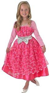 Barbie Pageant Girl kids fancy Dress Costume Halloween Long Sleeved Dress age...