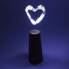 3Pcs LED Cork with 20 Lights on a String Bottle Stopper Wedding Decor Cool White