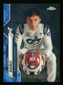2020 Topps Chrome Formula 1 F1 #11 Pierre Gasly Sapphire Image Variation SP