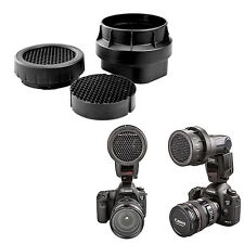 Kit 3-en-1 Grille Nid d'Abeilles pour Flash Speedlight Nikon SB900 SB910