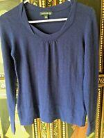 Women's Banana Republic Luxury Cashmere Blend  Blue Scoop Neck Sweater In SZ XS