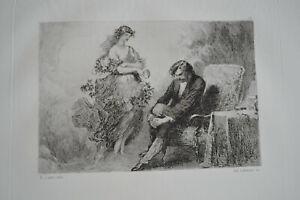 1883 ILLUSTRATIONS POUR LES ŒUVRES ALFRED DE MUSSET AQUARELLE LALAUZE E. LAMI