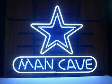 "Dallas Cowboys Man Cave Neon Lamp Sign 20""x16"" Bar Light Beer Display Windows"