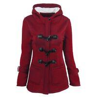 Women Warm Coat Jacket Outwear Trench Winter Hooded Long Parka Overcoat Tops AL