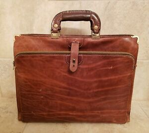 VINTAGE BALLY MADE IN ITALY BROWN ATTACHE BRIEFCASE