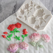 Rose Leaf Silicone Fondant Mould Flower Leaves Cake Baking Chocolate Icing Mold