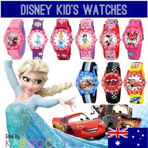 Australia Disney Kids Wrist Watch. Frozen, Princess, Cars, Mickey & Minnie Mouse