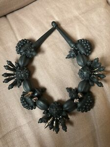 Ek Thongprasert Black Silicone with Silver Spikes Necklace