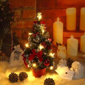 40cm Mini Christmas Tree LED Lamp Decor Ornaments Desktop Trees Xmas Miniature