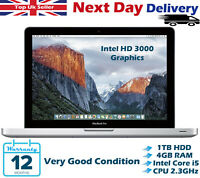 "Apple MacBook Pro 13.3"" Intel Core i5 2.30GHz 4GB RAM 1TB HDD MacOS High Sierra"
