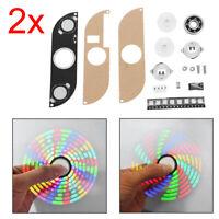 2x Tri Hand Finger LED light Figet Spinner Figit Spin Pocket EDC Hand Toys