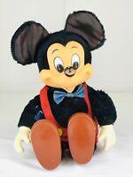 "Vintage Mickey Mouse Disney Applause 14"" Plush w/ Plastic Head Hands Feet"