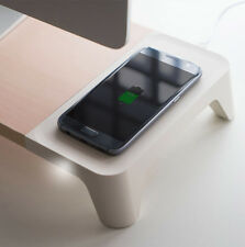 WOODY WIRELESS CHARGER Monitor Stand Screen Riser for Computer iMac Laptop Pad