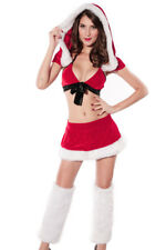 Red Santa Sweetheart Christmas Costume Lingerie Skirt Bow One Size 7163