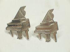 ORECCHINI a lobo con PIANOFORTE in Argento 925 - perno e farfallina - musica -