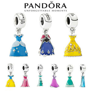New Pandora S925 ALE Disney Princess Dress Cinderella Dangle Charm Authentic